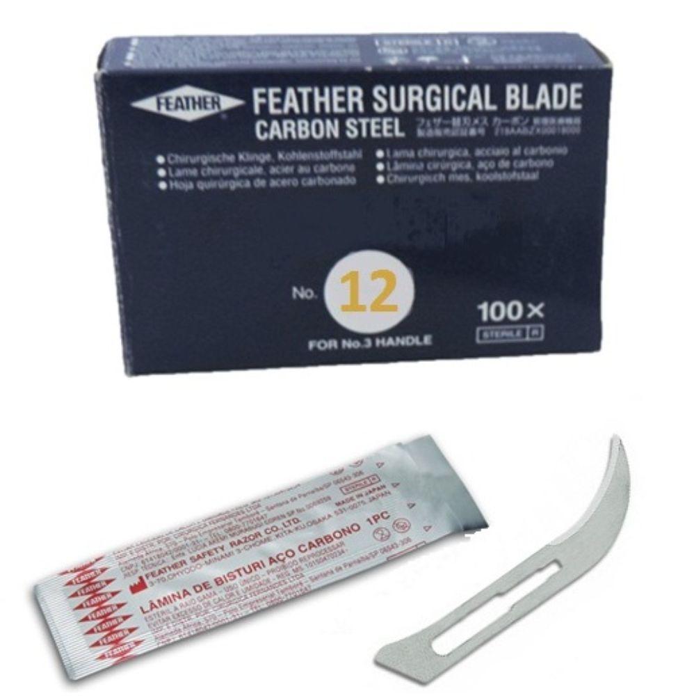 Lâmina - Feather N.12  (Caixa com 100 unidades)