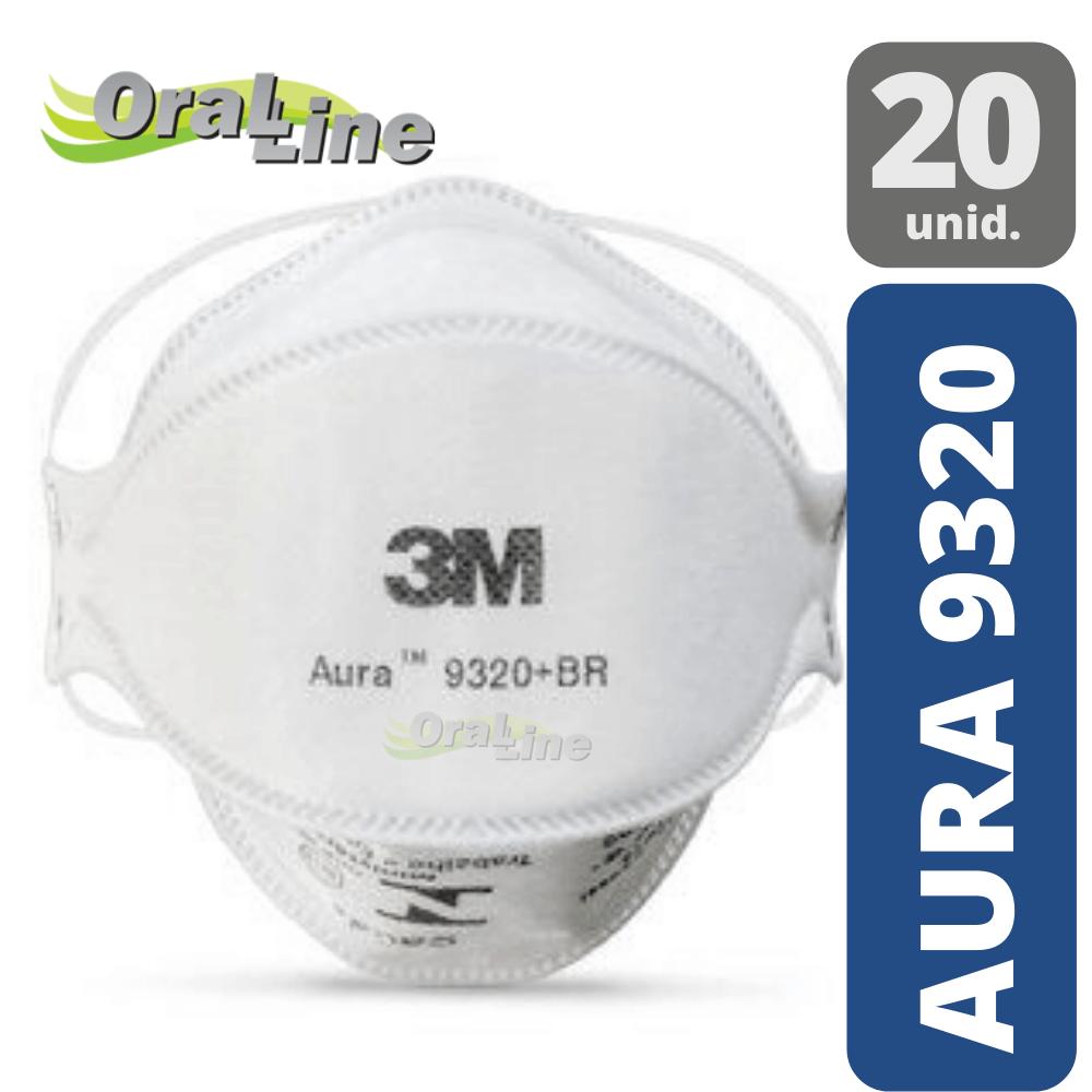 Máscara Descartável 3M Aura 9320+BR PFF2 - (20 unidades)