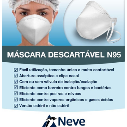NEVE - Máscara Descartável N95 - PFF2(S)