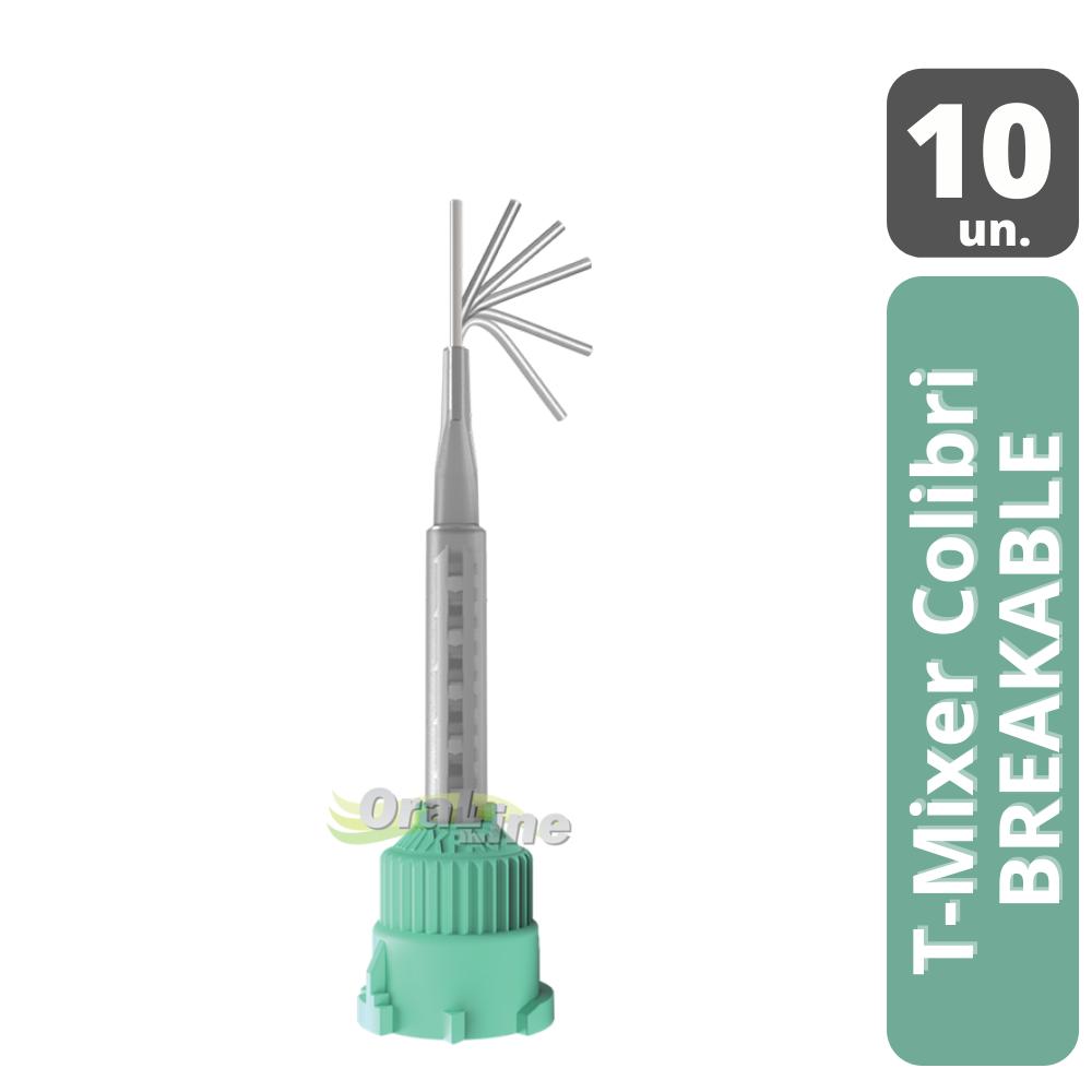 Ponta Misturadora Colibri Breakable| Verde | MIXPAC T-Mixer| 10 unidades