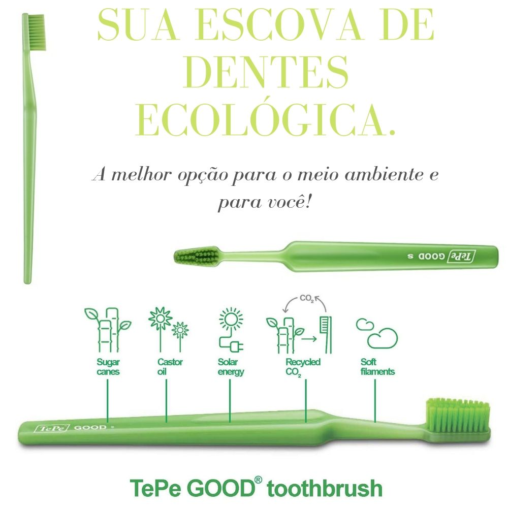 TEPE - KIT: 6 Escovas Tepe GOOD Regular - Ecológica