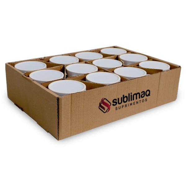 12 Caneca de Cerâmica Branca Prêmium Importada