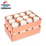 24 Caneca de Cerâmica Branca Prêmium Importada