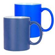 Caneca Azul Mágica Fosca  para Sublimação - de Cerâmica