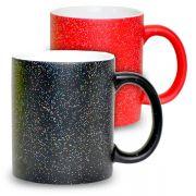 Caneca Mágica Sky Mecolour  Preta ou Vermelha com Gliter Holográfico