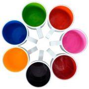 Canecas de Polimero - Interno Colorido - 325 ml - Sublimação - Resitec