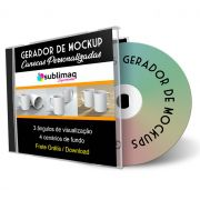 Gerador de Mockup para 2 caneca personalizada - Arquivo de download