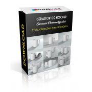 Kit Gerador de Mockup para 9 visualizações de canecas personalizadas - Arquivo de download