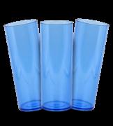 Long Drink Prêmium - Azul Translucido - Espessura 2mm - Cx c/ 12 Unidades