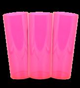 Long Drink  Prêmium - Rosa Translucido Neon - Espessura 2mm - Cx c/ 12 Unidades