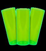 Long Drink  Prêmium - Verde Translucido Neon - Espessura 2mm - Cx c/ 12 Unidades