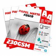 Papel Matte Fosco 230g - A4 Pacote com 20 folhas