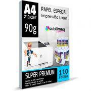 Papel para Impressão Laser - Super Transfer - Superfícies Rígidas - Pacote c/ 110 folhas A4 - 90g