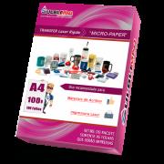 Papel Transfer Laser Rígido Micro Paper -  P/ Acrílicos -  Pacote c/ 100 folhas A4 - 100g