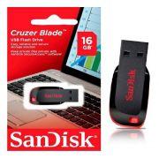 Pen Drive 16gb USB 2.0 Cruzer Blade preto SDCZ50 SanDisk BT 1 UN