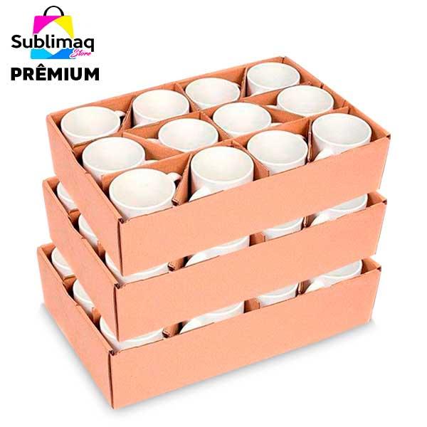 36 Caneca de Cerâmica Branca Prêmium Importada