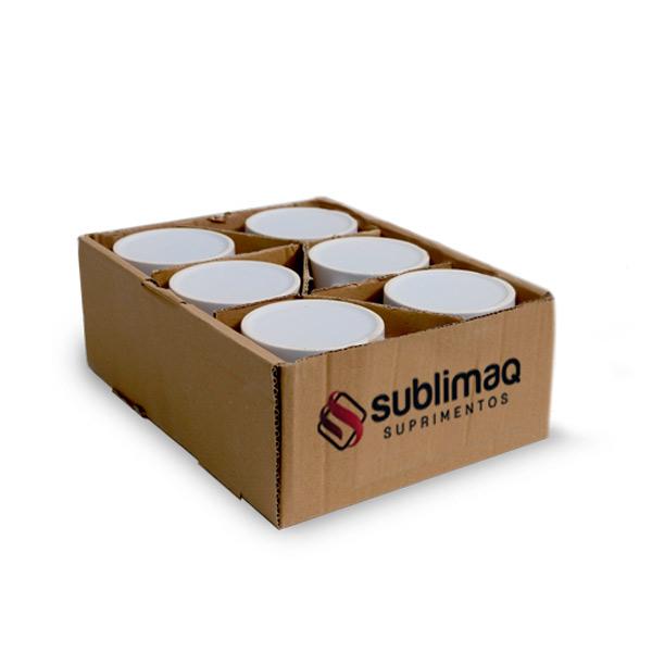 6 Caneca de Cerâmica Branca Prêmium Importada