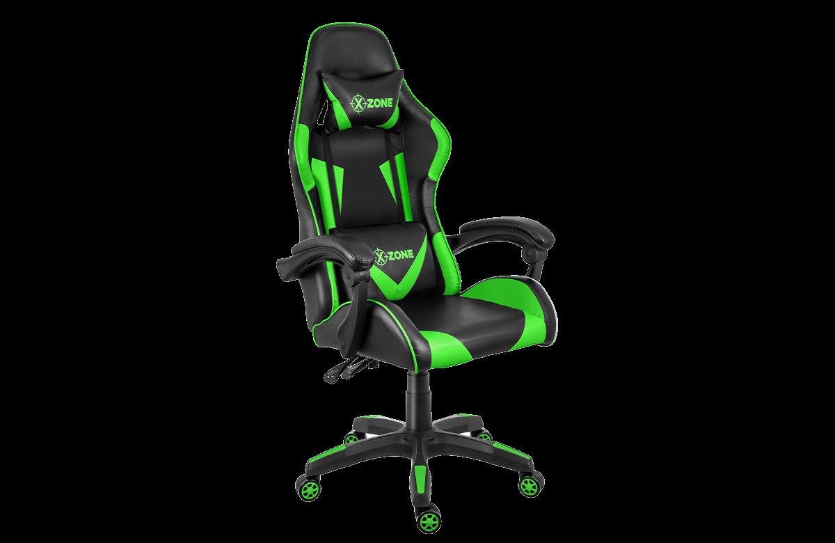 Cadeira Gamer Xzone C/ Almofadas Lombar e Pescoço e com Apoio de Braço Estofado.