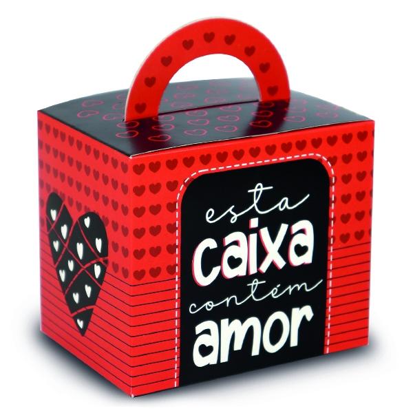 Caixinha de Caneca Personalizada - Tema Contém Amor - PCT C/ 12 Unid.
