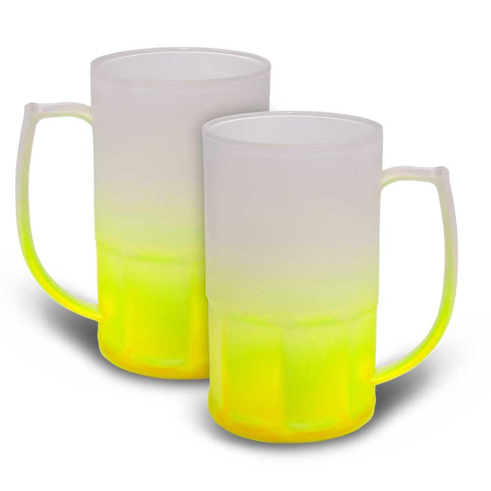 Caneca BiG Chopp 500 ml Degradê Neon Amarela