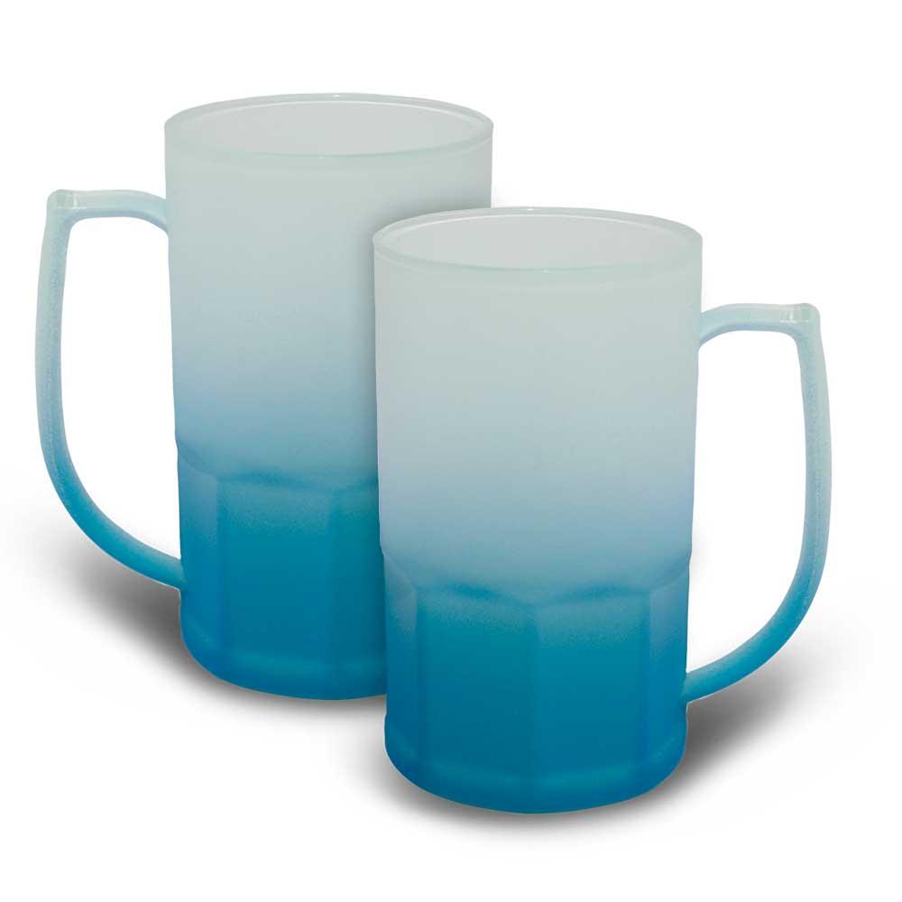 Caneca BiG Chopp 500 ml Degradê Neon Azul