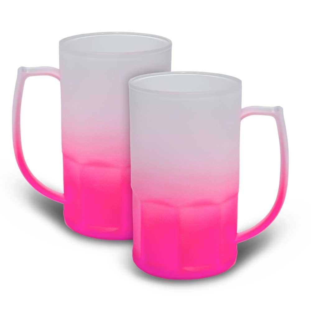 Caneca BiG Chopp 500 ml Degradê Neon Rosa