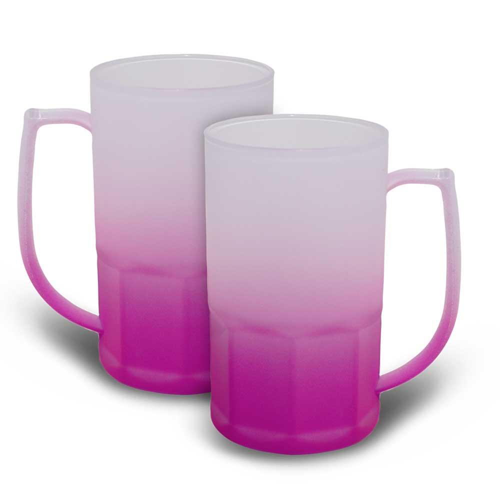 Caneca BiG Chopp 500 ml Degradê Neon Roxa