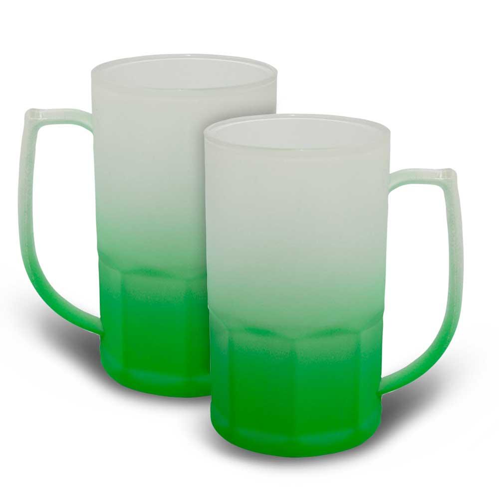Caneca BiG Chopp 500 ml Degradê Neon Verde