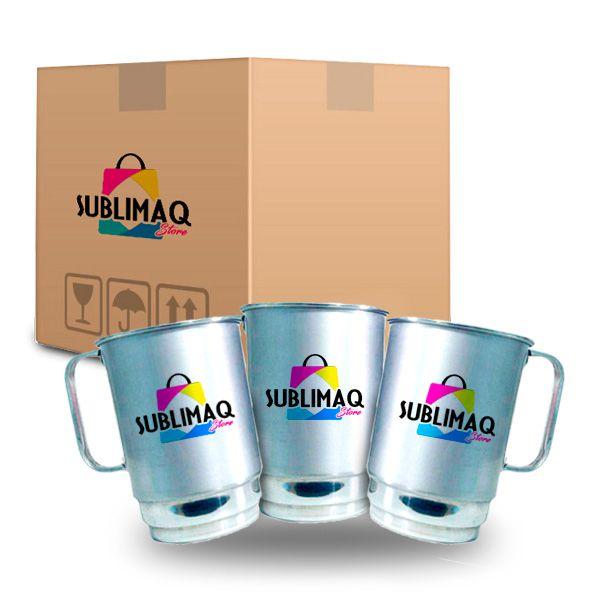 Caneca de Alumínio Resinada para Sublimação - 550 ml