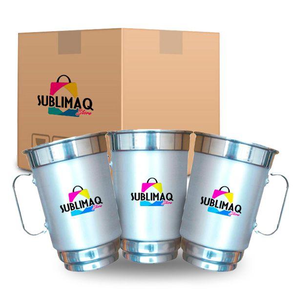 Caneca de Alumínio Resinada para Sublimação - 750 ml