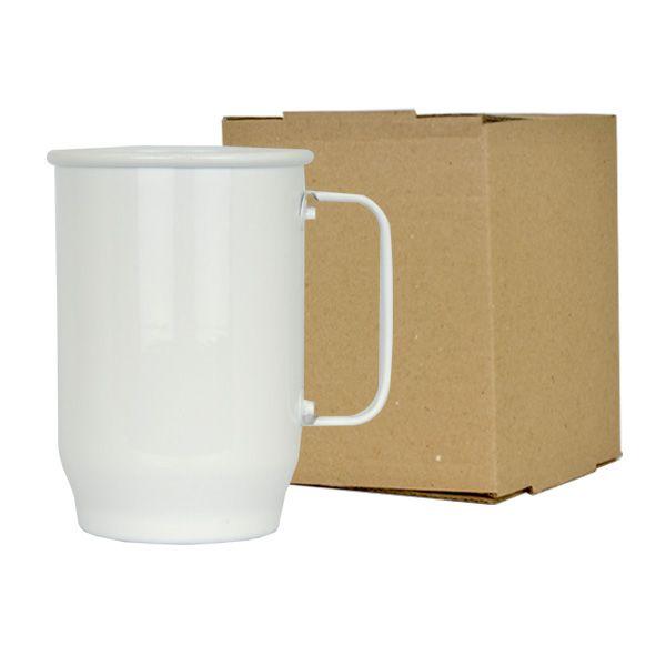 Caneca de Alumínio Sublimática Branca - 600 ml