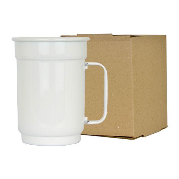 Caneca de Alumínio Sublimática Branca - 650 ml