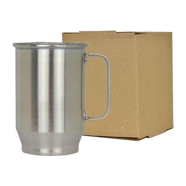 Caneca de Alumínio Sublimática Brilhosa - 600 ml
