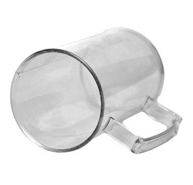 Caneca de Chopp Acrilico - Cristal - 500ml - Pt c/ 12 unidades