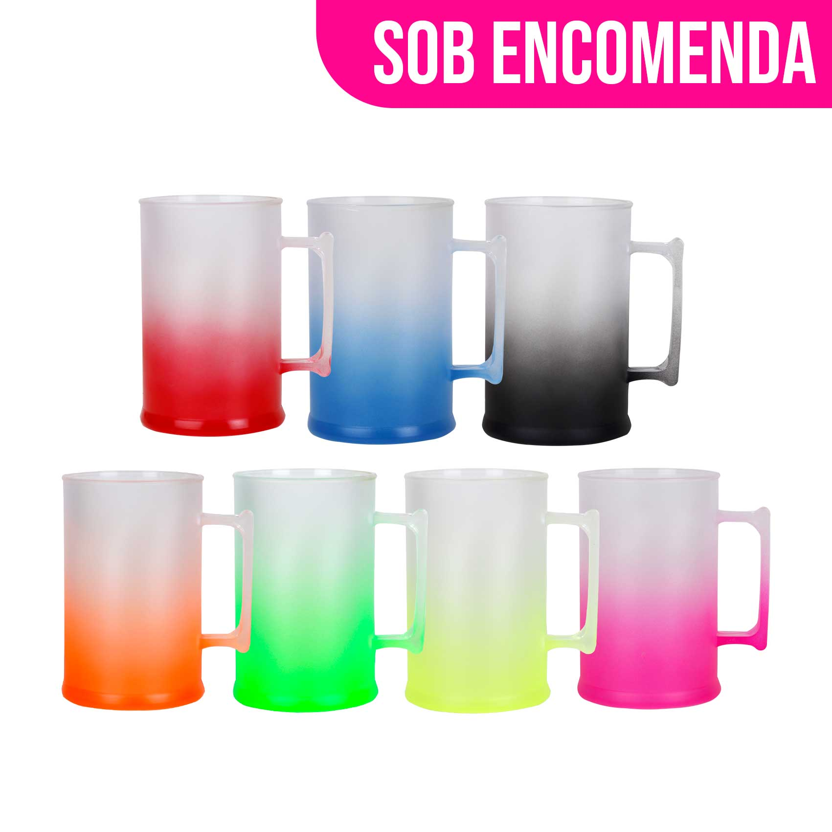Caneca de Chopp Degrade - 500ml