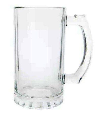 Caneca de Chopp para Sublimação - Vidro Transparente - 475ml