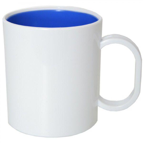 Caneca de Polimero  para Sublimação - Interior Azul - Resitec