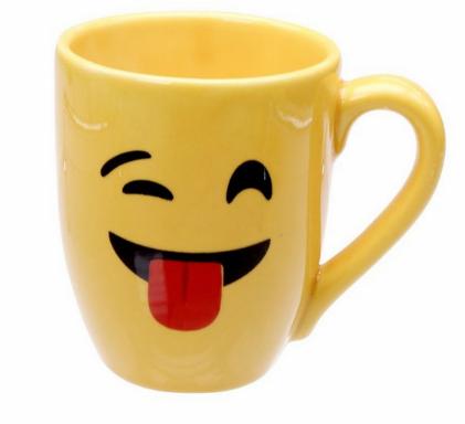 Caneca Emoji para Sublimação - 325 ml - Live