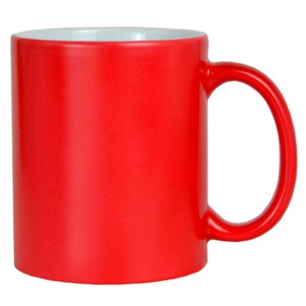 Caneca Vermelha  Mágica  para Sublimação- Semi Brilho - de Cerâmica