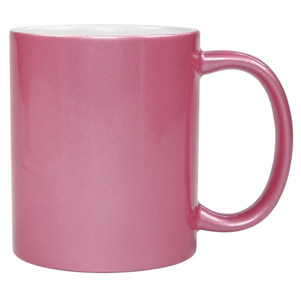 Caneca  Rosa Perolizada de Cerâmica - Classe A - Para Sublimação