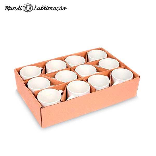 Caneca Prêmium Mundi - Cerâmica Branca para Personalizar com Sublimação - Classe A - Cx com 12 unidades
