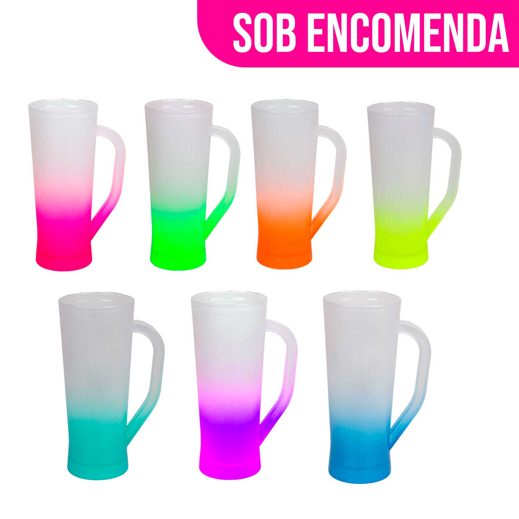 Caneca Slim Degradê Neon 350 ml