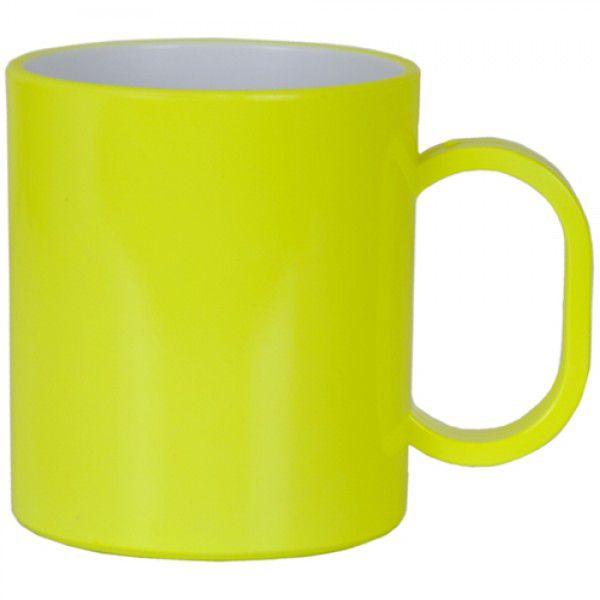 Caneca  de Polimero  para Sublimação - Amarelo Neon - Resitec