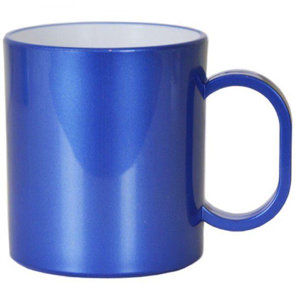 Caneca de Polimero  para Sublimação - Azul Metalizado - Resitec