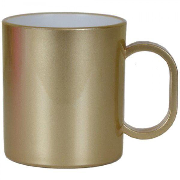 Caneca de Polimero  para Sublimação - Ouro Metalizado - Resitec