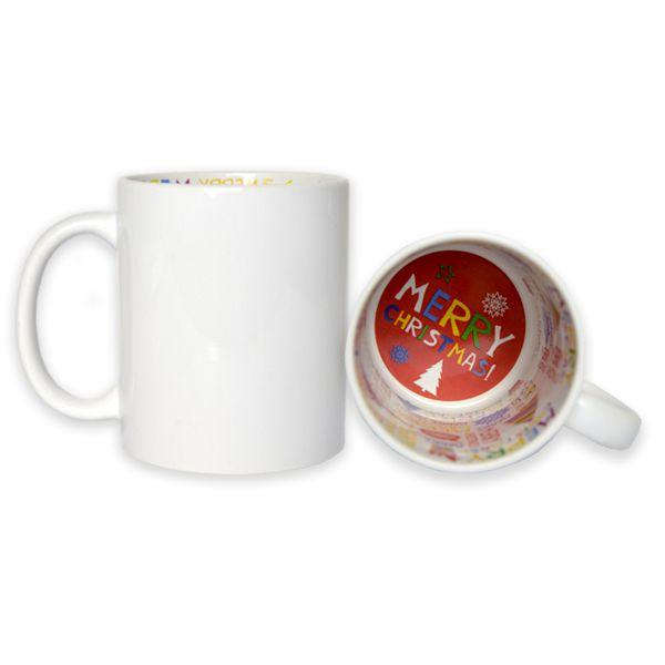 Caneca  - Tema Natal 325ml de Cerâmica - Classe A