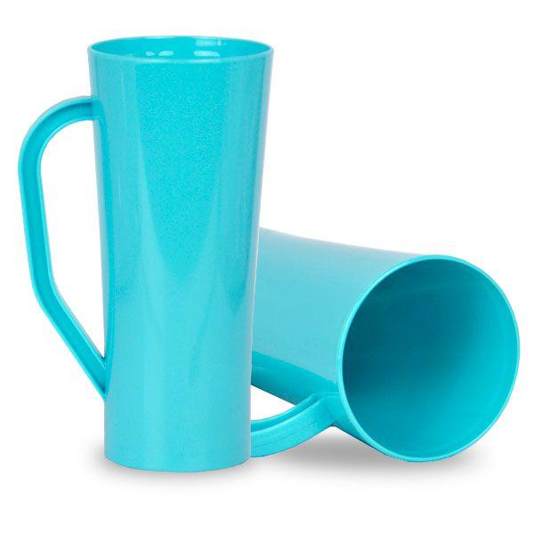 Caneca Twister com Alça Azul Tiffany - 450ml - Pt c/ 10 unidades