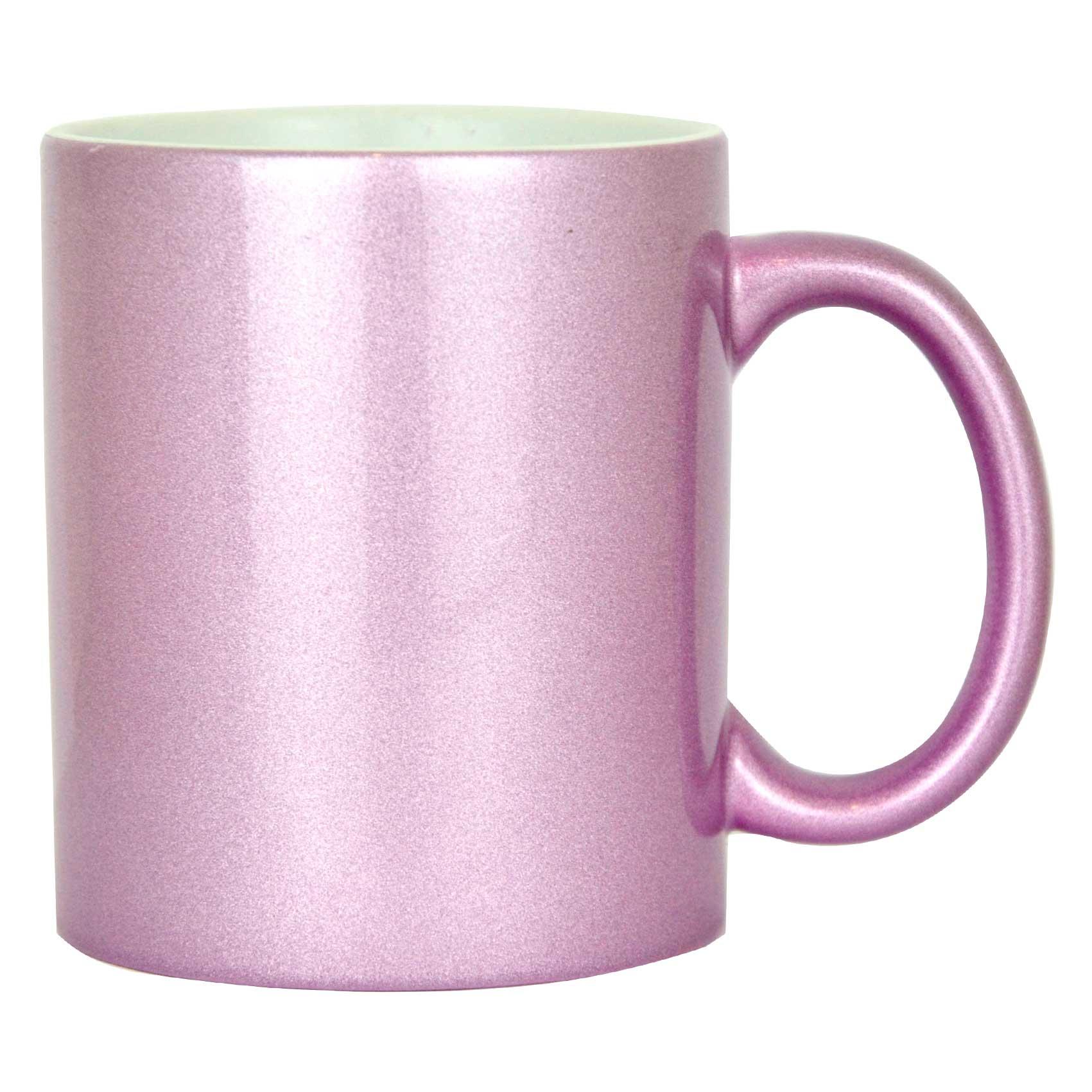 Caneca  Violeta Perolizada de Cerâmica - Classe A - Para Sublimação