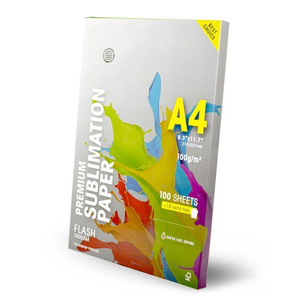 COMBO A3 + A4 - Papel Sublimático Globinho 100g - 2 Pacote Original  C/ 110 folhas CADA