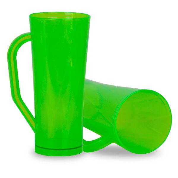 CÓPIA - Caneca Twister com Alça Verde Translucido - 450ml - Pt c/ 10 unidades